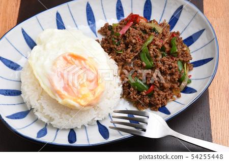 태국 요리 가빠오라이스 54255448