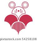 연하장 쥐 영 화 이년 무늬 빨강 54258108