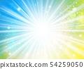 노란색 파란색 반짝이 이미지 방사형 54259050