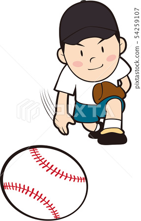 Boy throwing baseball ball 54259107