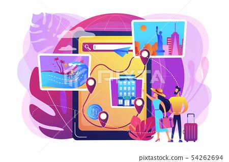 Tour navigator concept vector illustration 54262694