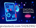 Digital marketing landing page, smartphone screen 54262992