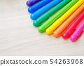 庫存照片:顏色筆水性蠟筆標誌筆五顏六色 54263968