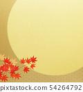 배경 - 일본 - 일본식 - 일본식 디자인 - 금박 - 달 - 단풍 54264792