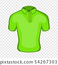 Mens green polo icon, cartoon style 54267303