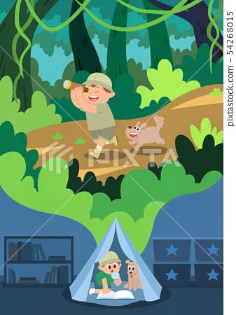 Children's dream cartoon style illustration 009 54268015