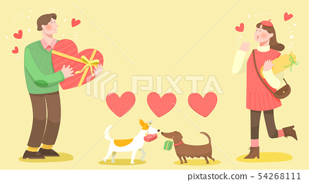Spring is season of love, vector design concept for loving 001 54268111