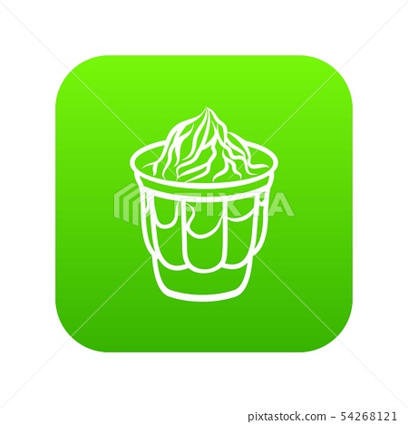Ice cream in glass icon, outline style 54268121