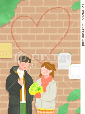 Spring is season of love, vector design concept for loving 011 54268124