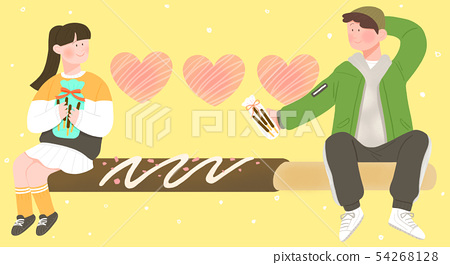 Spring is season of love, vector design concept for loving 010 54268128