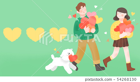 Spring is season of love, vector design concept for loving 002 54268130