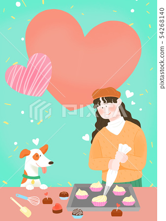 Spring is season of love, vector design concept for loving 003 54268140