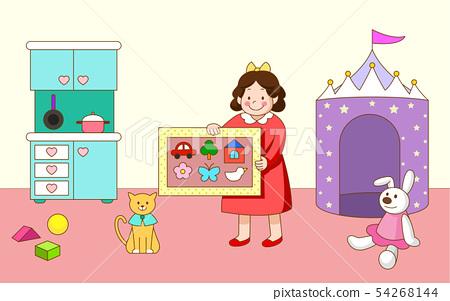 People in various lifestyles illustration in cartoon style 007 54268144