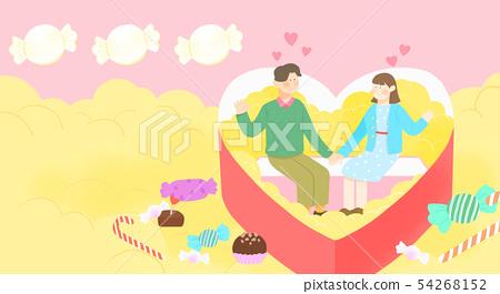 Spring is season of love, vector design concept for loving 008 54268152