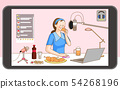 illustration of Creator, making different types of digital content 009 54268196