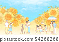 illustration of Enjoy the spring flower festival with family or couple 012 54268268