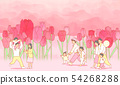 illustration of Enjoy the spring flower festival with family or couple 006 54268288