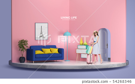 Living life, 3D interior visual 006 54268346