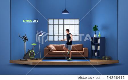 Living life, 3D interior visual 009 54268411