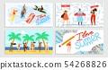 I Love Summer, Time for Summer Vector Illustration 54268826