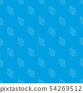 Route 66 pattern vector seamless blue 54269512