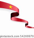 Vietnamese flag wavy abstract background. Vector illustration. 54269970
