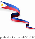 Philippines flag wavy abstract background. Vector illustration. 54270037