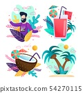 Happy Travelling and Summer Vacation Cards Set 54270115