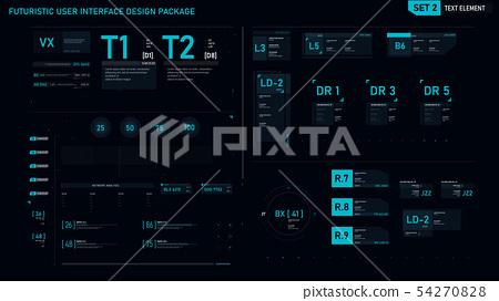 Futuristic user interface design element set 02 54270828