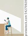 카페에서 책을 읽는 여자 54270920