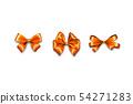 Holiday satin gift bow knot ribbon orange gold 54271283