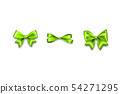 Holiday satin gift bow knot ribbon 54271295