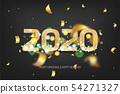 2020 new year golden banner 54271327