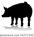 Pig Silhouette Farm Animal 54271345