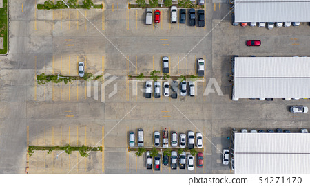 The top view of the parking lot taken with the 54271470