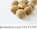 Potatoes with soil 54273742