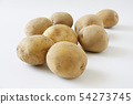 Potatoes with soil 54273745