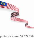 Malaysian flag wavy abstract background. Vector illustration. 54274856