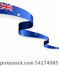 Australian flag wavy abstract background. Vector illustration. 54274985