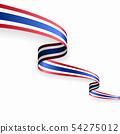 Thai flag wavy abstract background. Vector illustration. 54275012