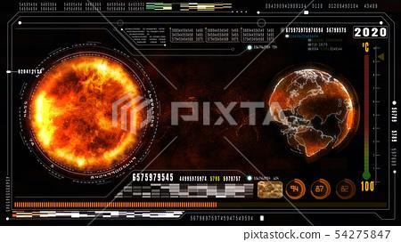 Hi-Tech digital data and information background. 54275847
