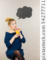 drink, juice, woman 54277711