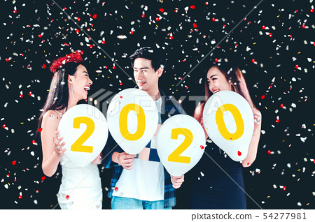 Newyear party ,celebration party group of asian 54277981