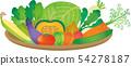 蔬菜設置漸變 54278187
