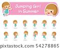 精力充沛地玩耍的女孩[各種各樣的姿勢分類集] 54278865