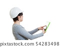 woman pc tablet engineering 54283498