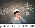 woman engineer gathering ideas 54283508