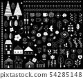 북유럽 디자인 일러스트 소재 블랙 백 54285148