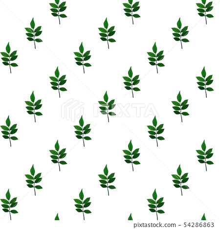 Silhouette of beautiful leaves. Seamless Pattern 54286863