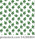 Silhouette of beautiful leaves. Seamless Pattern 54286864